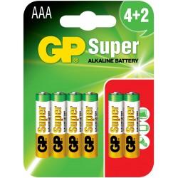 Baterie GP Super Alkaline LR03 24A-U6 (BLISTER)