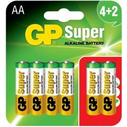 Baterie GP Super Alkaline LR06 15A-U6 (BLISTER)