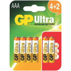 Bateria GP Ultra Alkaline LR03 24AU-U6 (BLISTER)