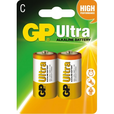 Bateria GP Ultra Alkaline LR14 14AU-U2