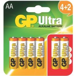 Bateria GP Ultra Alkaline LR6 15AU-U6 (BLISTER)