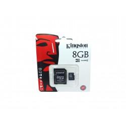 Karta microSD 8GB kl. 4 + adapter