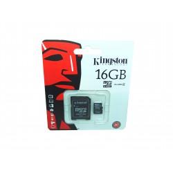Karta microSD 16GB kl. 4 + adapter