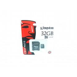 Karta microSD 32GB kl. 4 + adapter