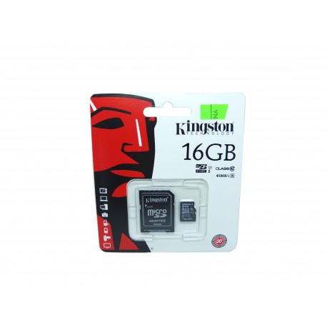 Karta microSD 16GB kl. 10 + adapter