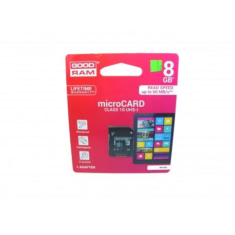 Karta microSD 8GB kl. 10 + adapter